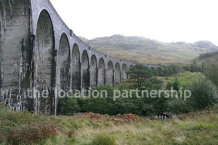 Viaduct surrounded by stunning Scottish landscape