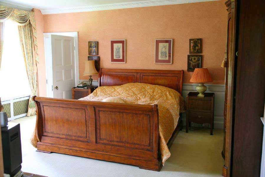Traditional bedrooms in a large country house