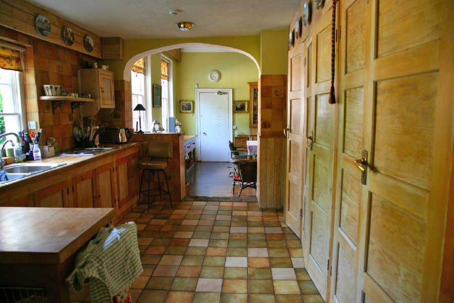 Kitchen with a retro, period atmosphere in a large country house, just an hour from Central London