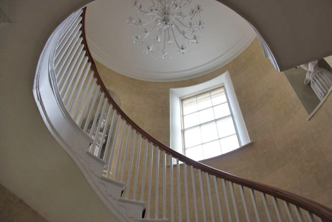 Stunning spiral, sweeping staircase in Georgian house. NB- stills and smaller shoots preferred.