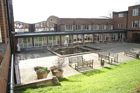 Quad/courtyard in school in SW London