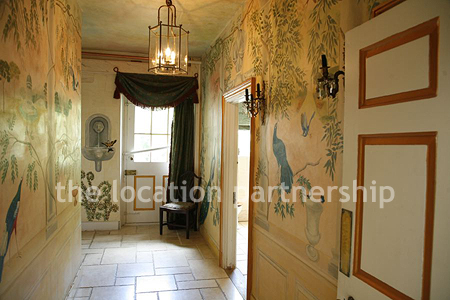 Small Hallway With Bespoke Wallpaper Location Partnership