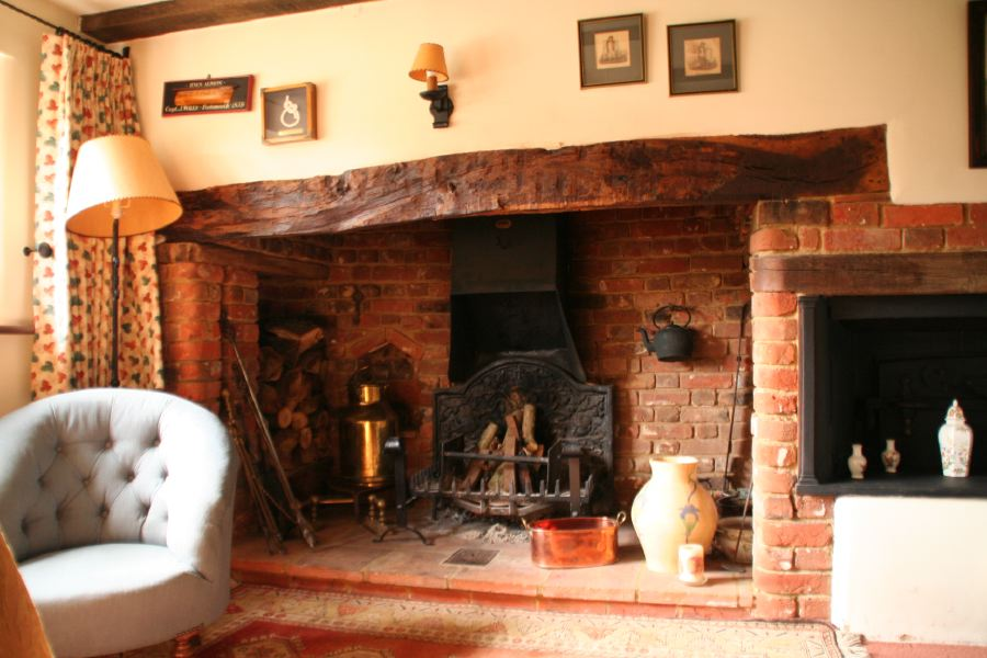 18th century country cottage with inglenook fireplaces an
