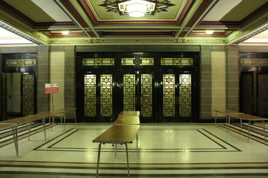 Art Deco Foyer : Grand art deco foyer of historic building location
