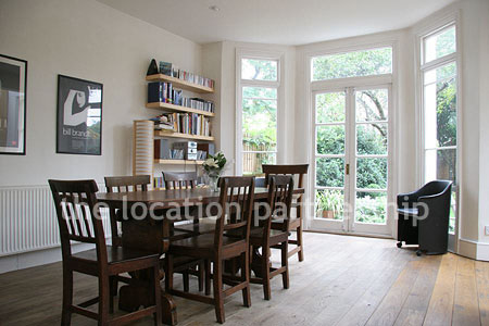 Dining Room on Dining Room   Kitchen Dining Room With Large Bay French Windows
