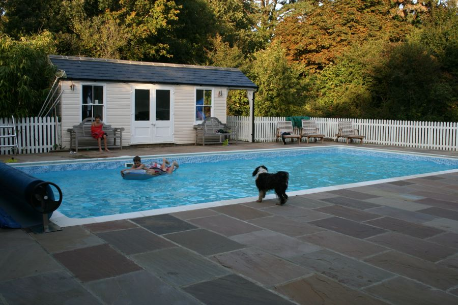 Swimming Pool In The Garden Of A Beautiful Country House Location Partnership