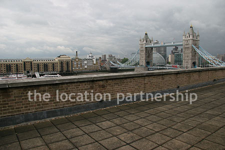 Roof terrace with views over tower bridge location for The terrace location